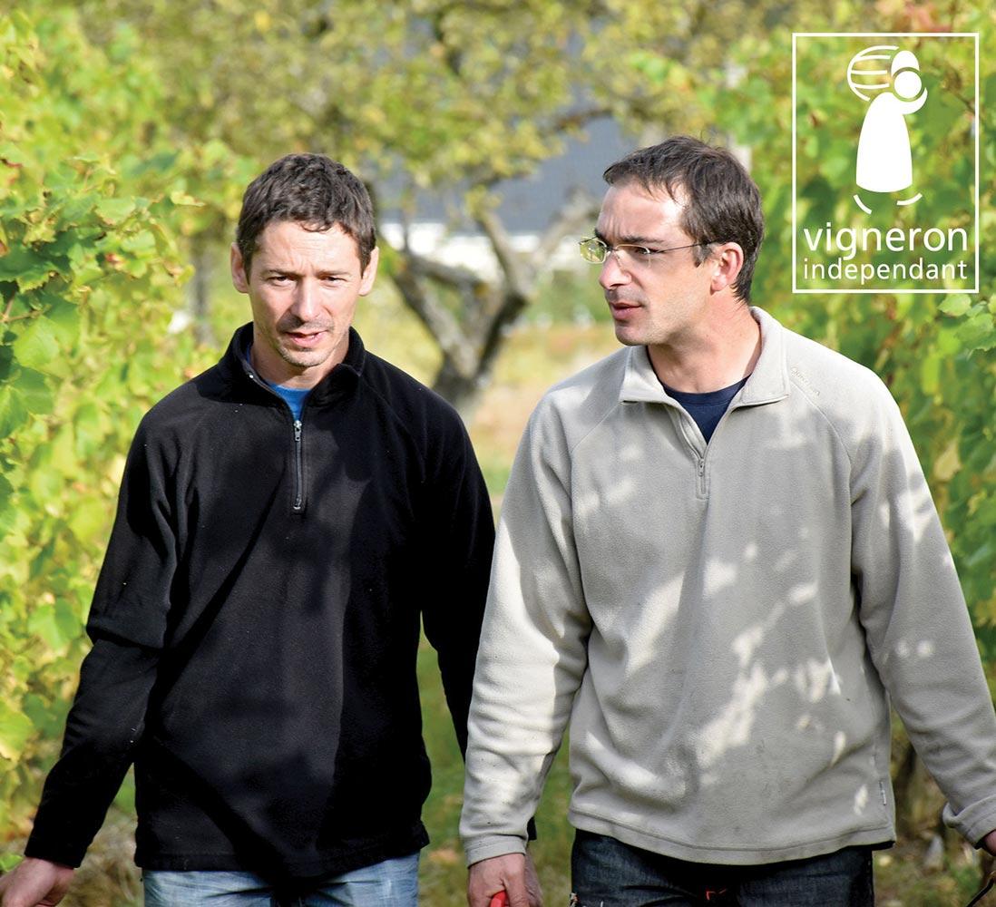 deux frères, Stéphane et Alexandre Vosgien Domaine Claude Vosgien